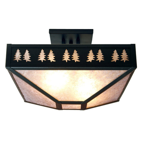 Band of Trees Four Post Drop Ceiling Mount Light