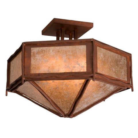 Sticks Hexagon Drop Ceiling Mount Light