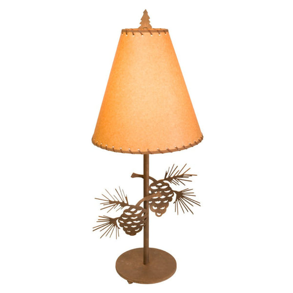 Steel Pinecone Table Lamp