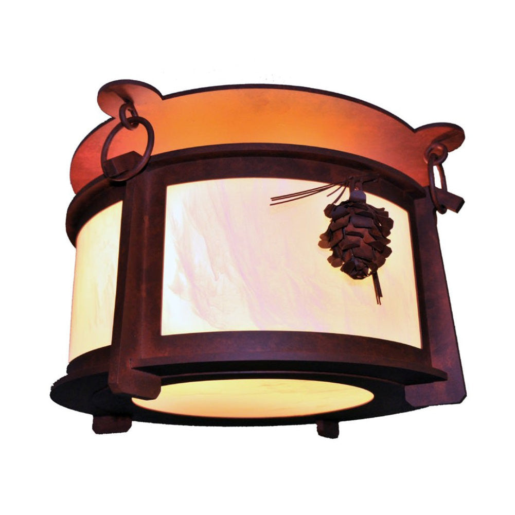 Ponderosa Pine Ceiling Mount Light