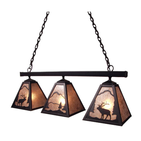 Anacosti Timber Ridge Elk 3 Light Pendant