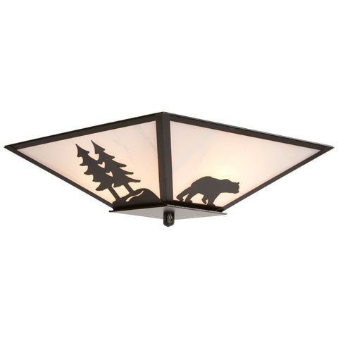 Bear Semi Flush Ceiling Mount Light