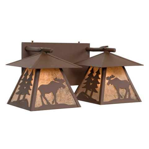 Cascade Moose Double Vanity Light