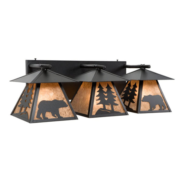 Cascade Bear Triple Vanity Light