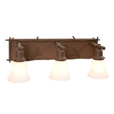 Glacier Sticks Triple Vanity Light
