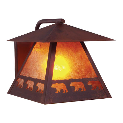Band of Bears Outdoor Wall Sconce