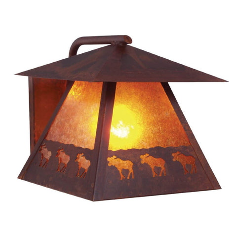 Rustic outdoor lighting free shipping lakecabin depot band of moose outdoor wall sconce aloadofball Gallery