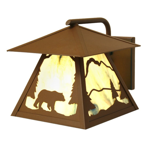 Timber Ridge Bear Outdoor Wall Sconce