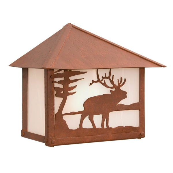 Rainer Elk Outdoor Wall Sconce