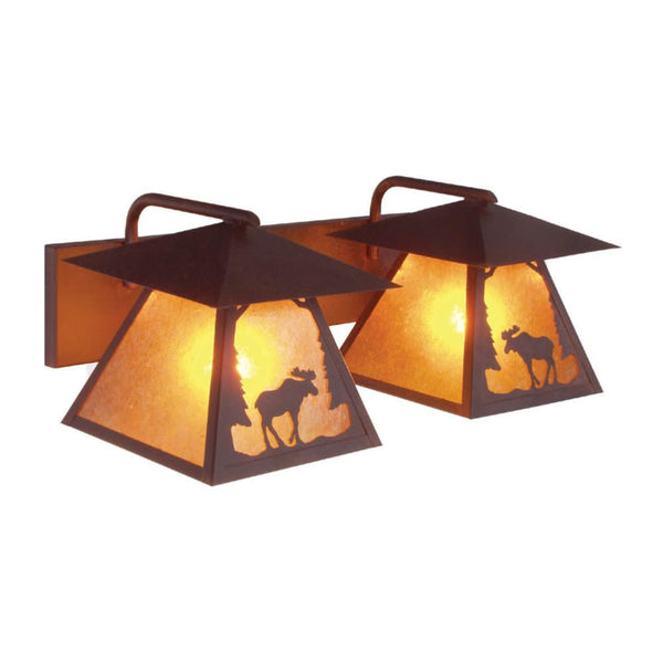 Prairie Moose Double Vanity Light