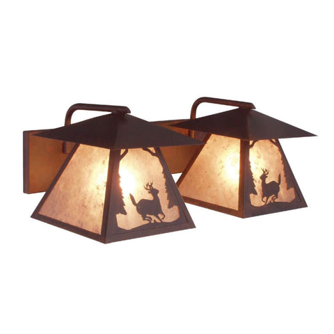 Prairie Deer Double Vanity Light