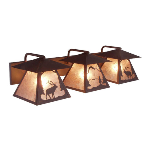 Prairie Wapiti Triple Vanity Light
