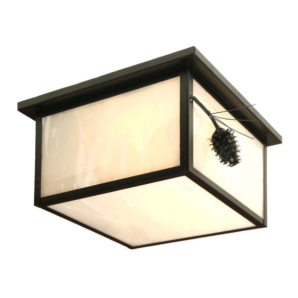 Ponderosa Pine Squaroka Ceiling Mount Light