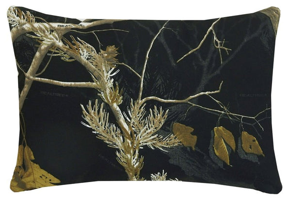 Realtree AP Snow and Black Comforter Collection - Oblong Pillow