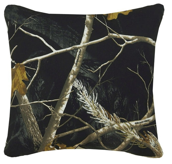 Realtree AP Snow and Black Comforter Collection - Square Pillow