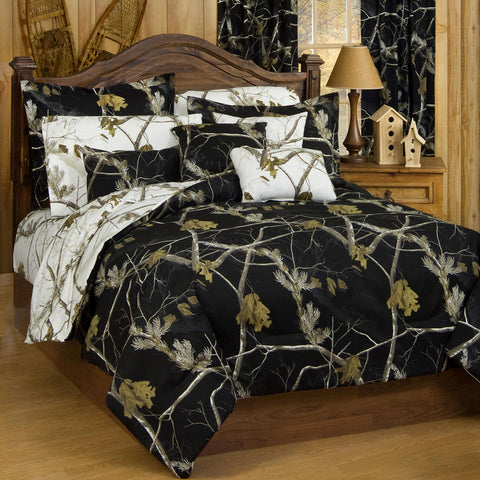 Realtree AP Snow and Black Comforter - Black Side