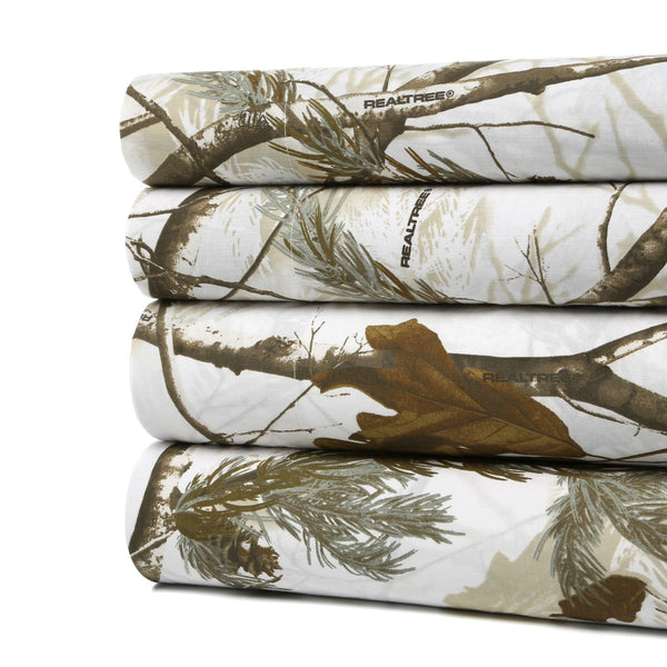 Realtree AP Snow and Black Sheet Set