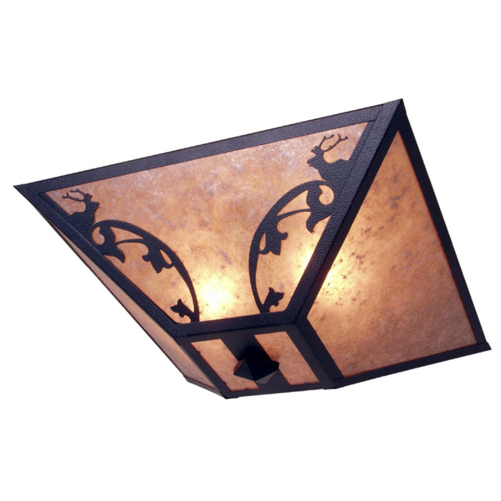 Bavarian Elk Drop Ceiling Mount Light