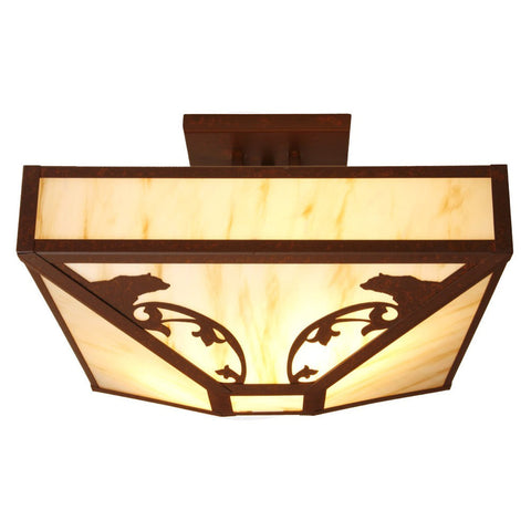 Bavarian Bear Four Post Drop Ceiling Mount Light