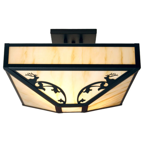 Bavarian Elk Four Post Drop Ceiling Mount Light (Available in 5 finishes and lens)