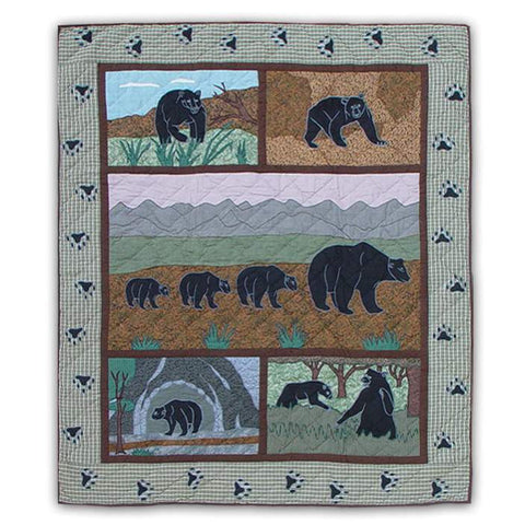 Bear Country Quilted Throw