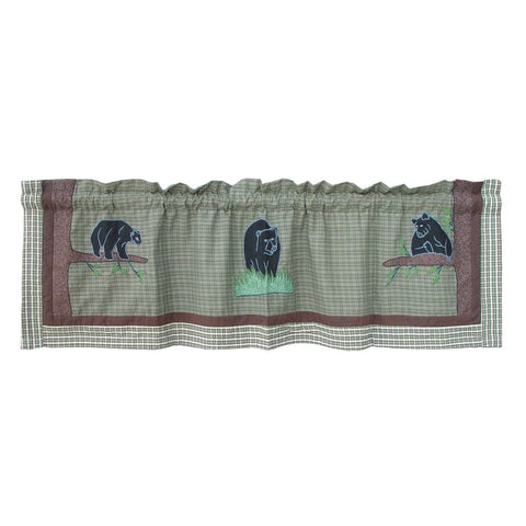Bear Country Curtain Valance