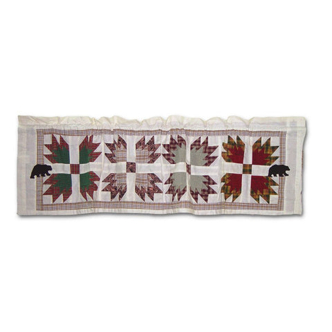 Bears Paw Curtain Valance