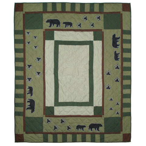 Bear Trail Quilted Throw