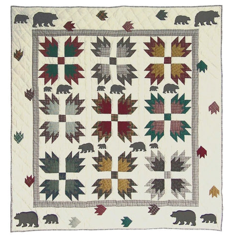 Bears Paw Quilted Throw