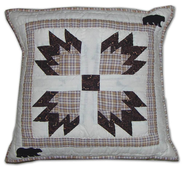 Bears Paw Quilt Toss Pillow