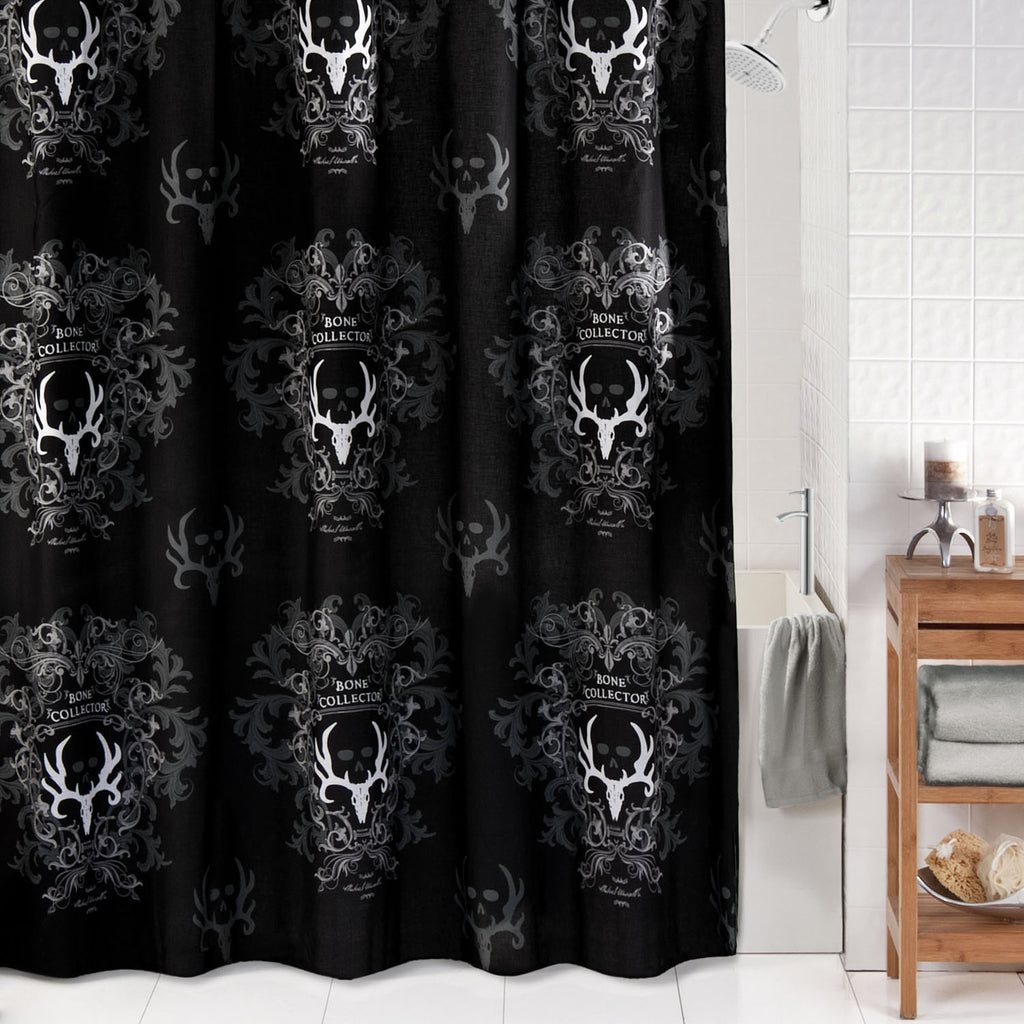 Bone Collector Shower Curtain - Black