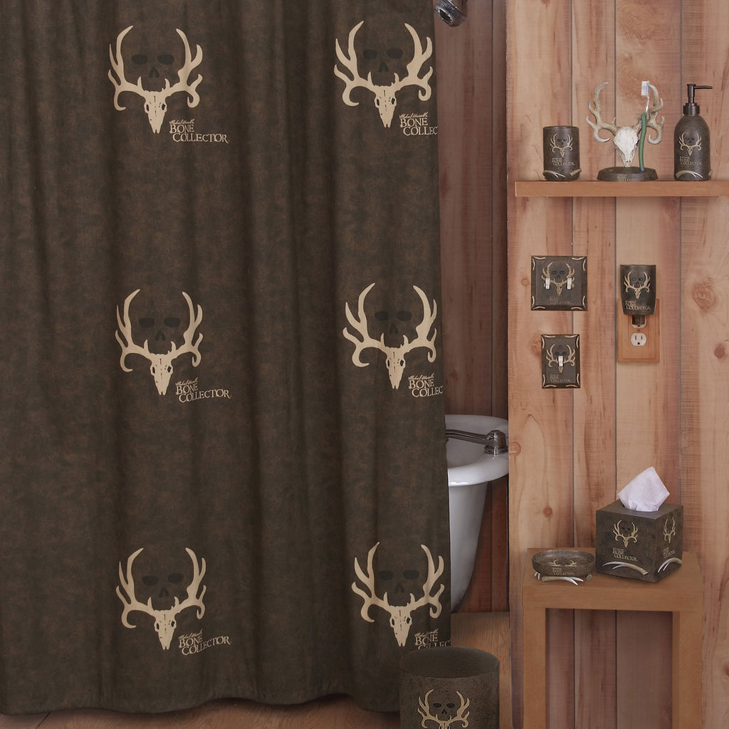 Bone Collector Shower Curtain - Brown