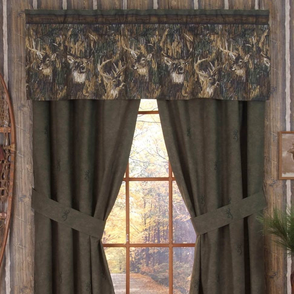 Browning Whitetails Drapes & Valance