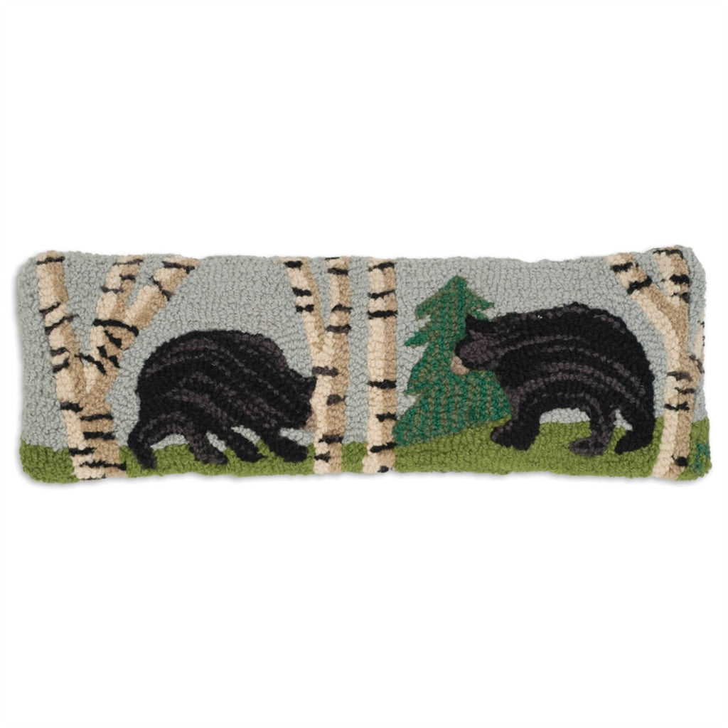 "Bear in the Woods Pillow 8"" x 24"""