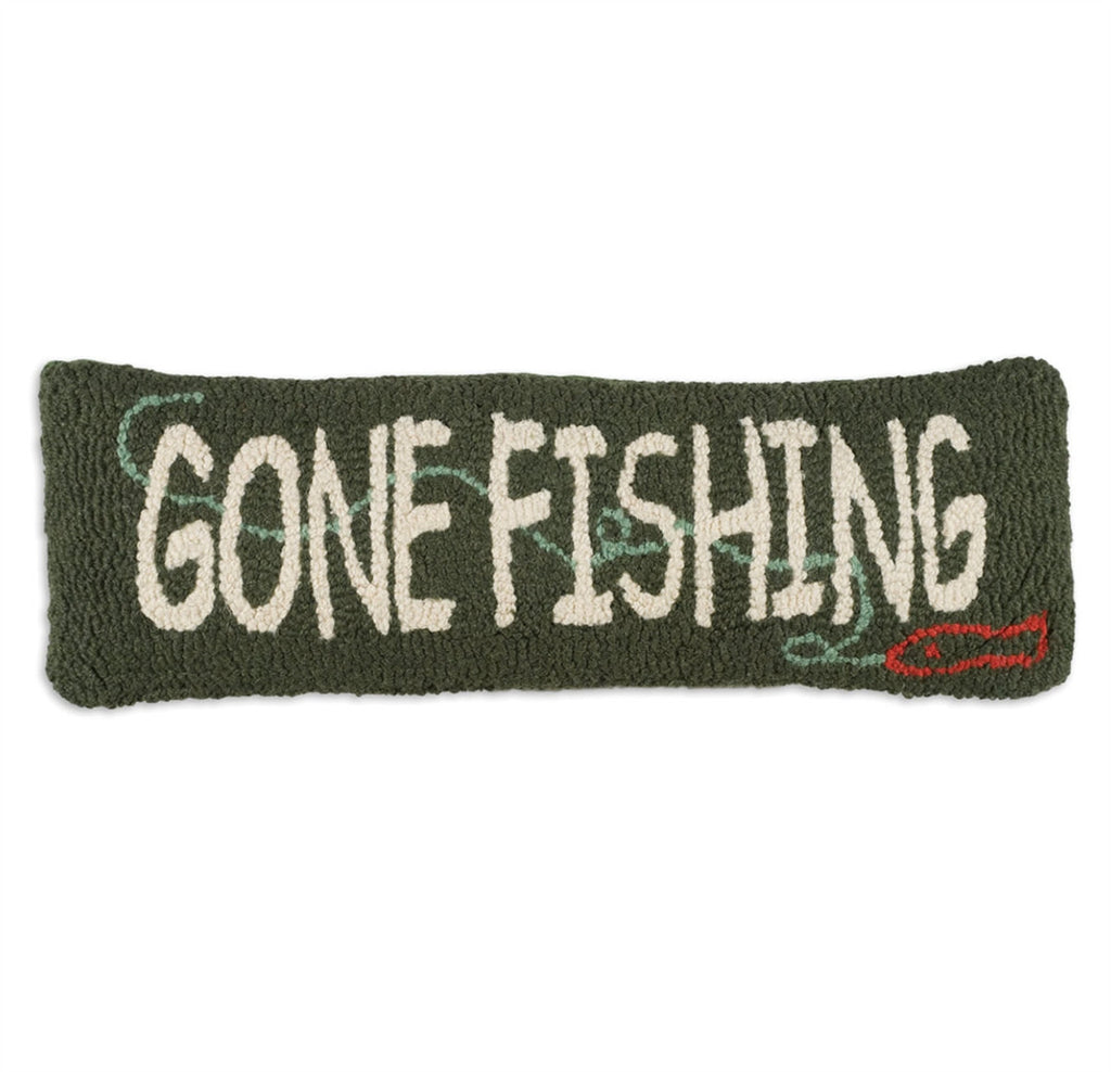 "Gone Fishing Pillow 8"" x 24"""