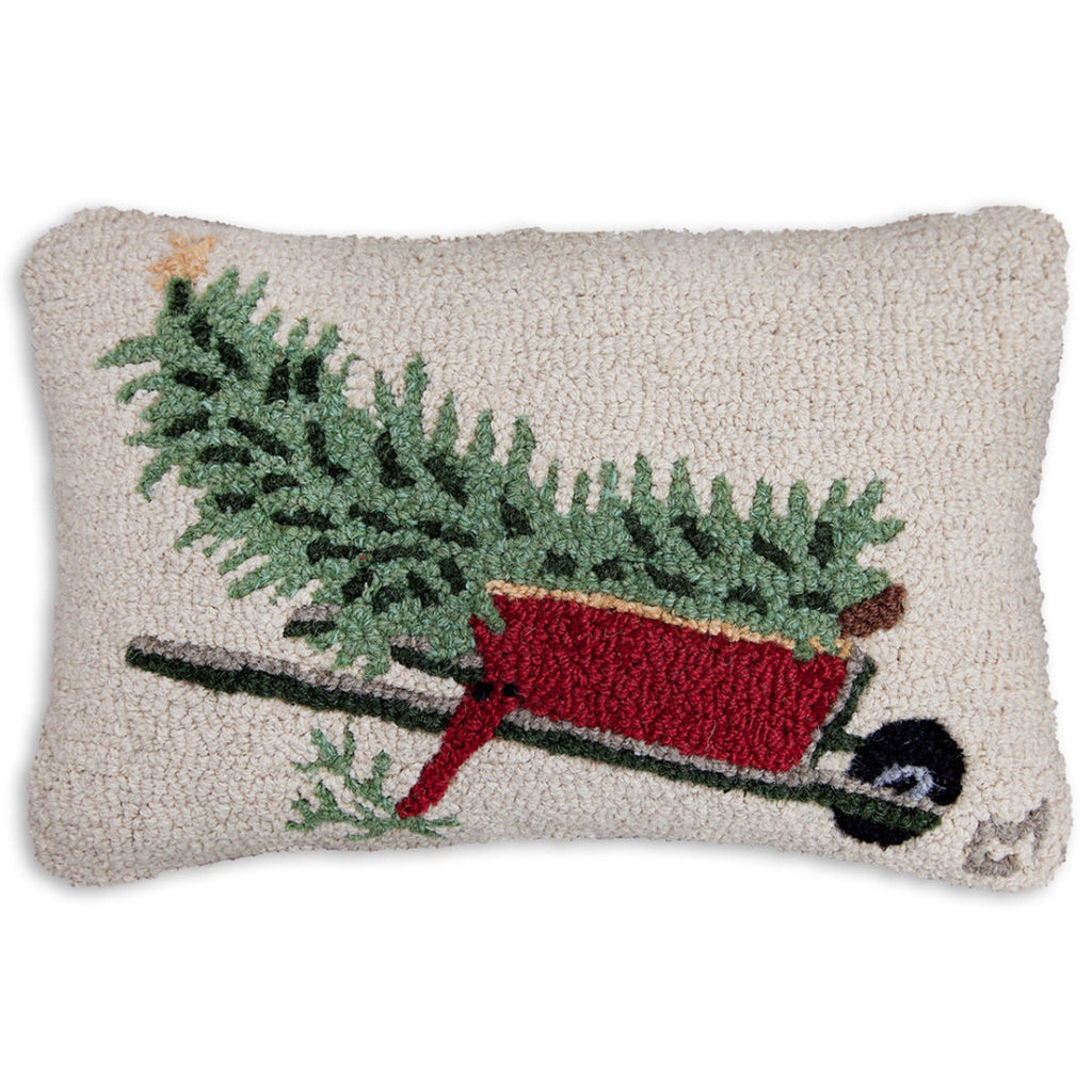 Wheel It In Hooked Wool Pillow 20 x 14