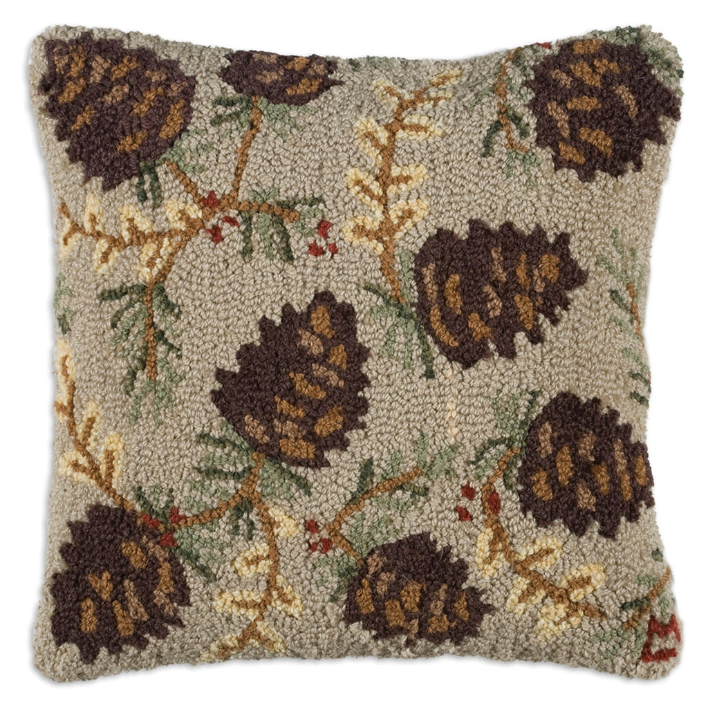 Northwoods Cone Pillow 18""