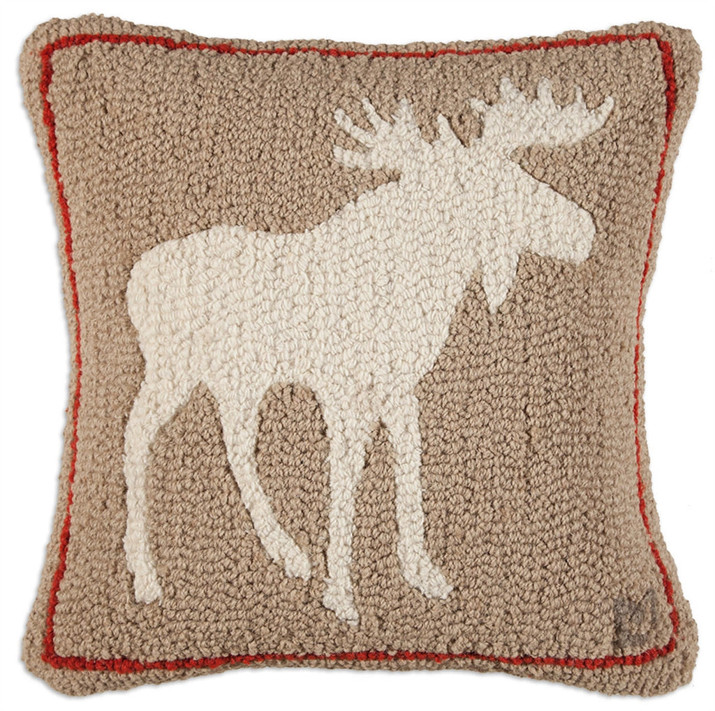 Khaki Moose Pillow 18""