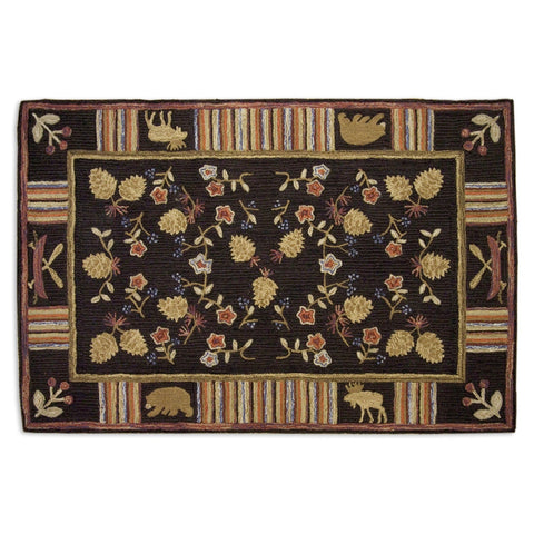 Night Moose Rug 4' x 6'