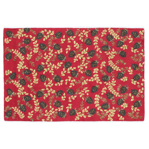 Ruby Pinecones Rug 4' x 6'