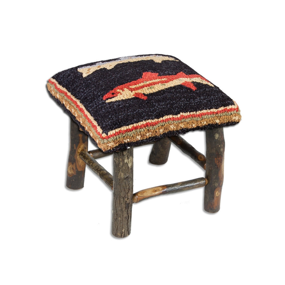 River Fish Hickory Stool