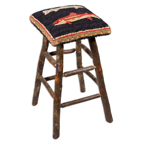 River Fish Hickory Barstool