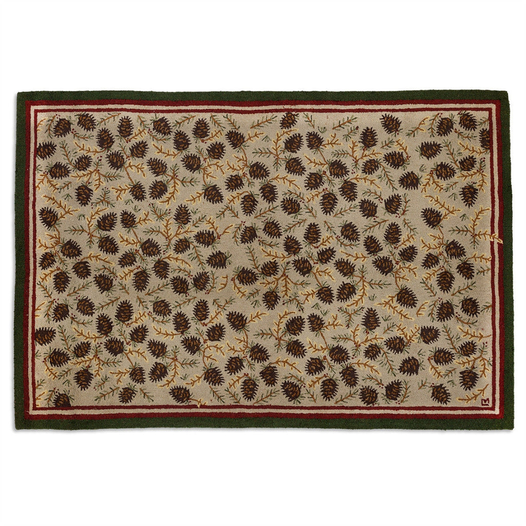 Northwood Cones Hooked Wool Rug 6' x 9'
