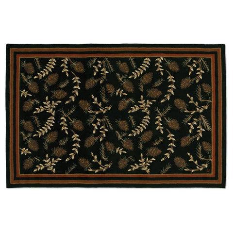 Willows & Cones Rug 6' x 9'