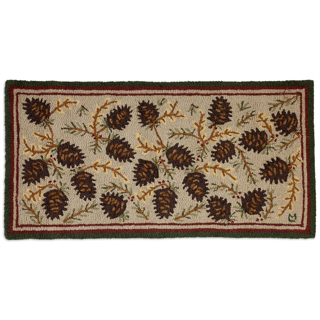 Northwood Cones Hooked Wool Rug 2' x 4'