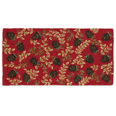 Ruby Pinecones Rug 2' x 4'