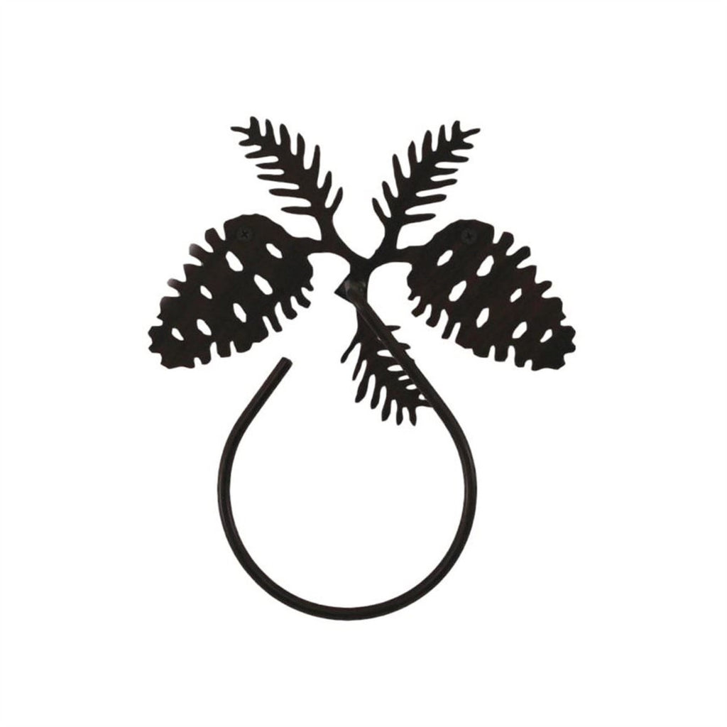 Iron Pine Cone Towel Ring