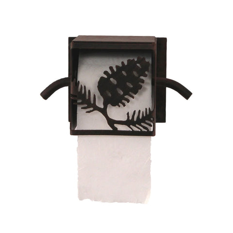 Iron Pine Cone Box Toilet Paper Holder