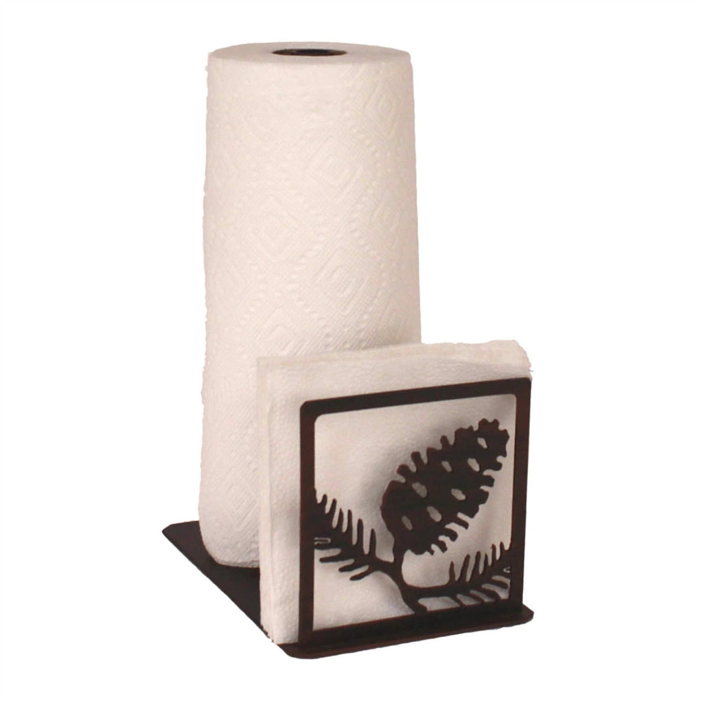 Iron Pine Cone Paper Towel/Napkin Holder