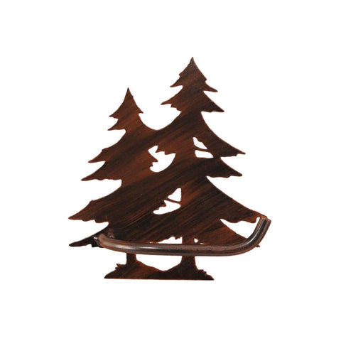 Iron Pine Tree Toilet Paper Holder